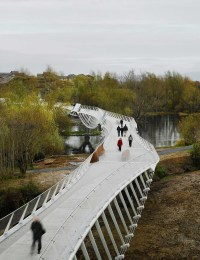 Amazing Pedestrian And Suspended Bicycle Path Bridges