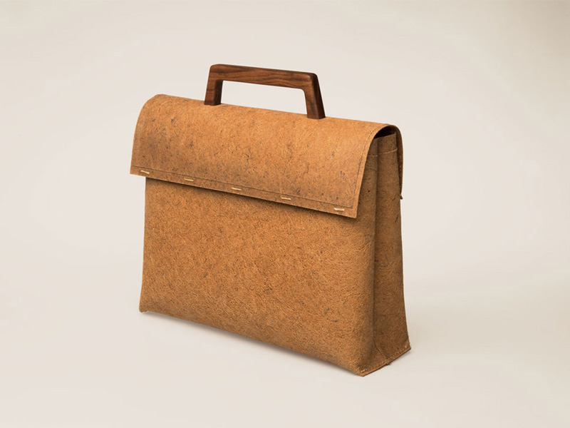 Dutch designers have made a bag from coconut husks