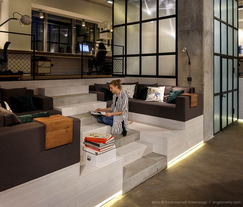 half circle sofas modern armless sofa these interior designers have completed their own office ...