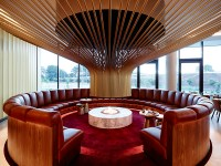 Design Detail - An Eye-Catching Circular Fireplace Stands ...