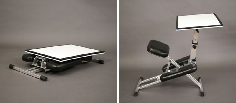 This new desk is designed to be portable and popup