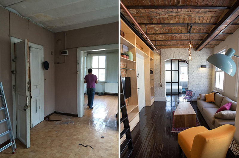 Before  After  An apartment makeover inside an old