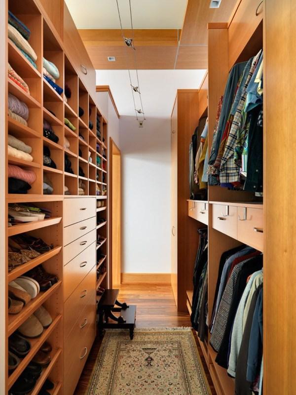 Narrow Walk-In Closet Design Ideas