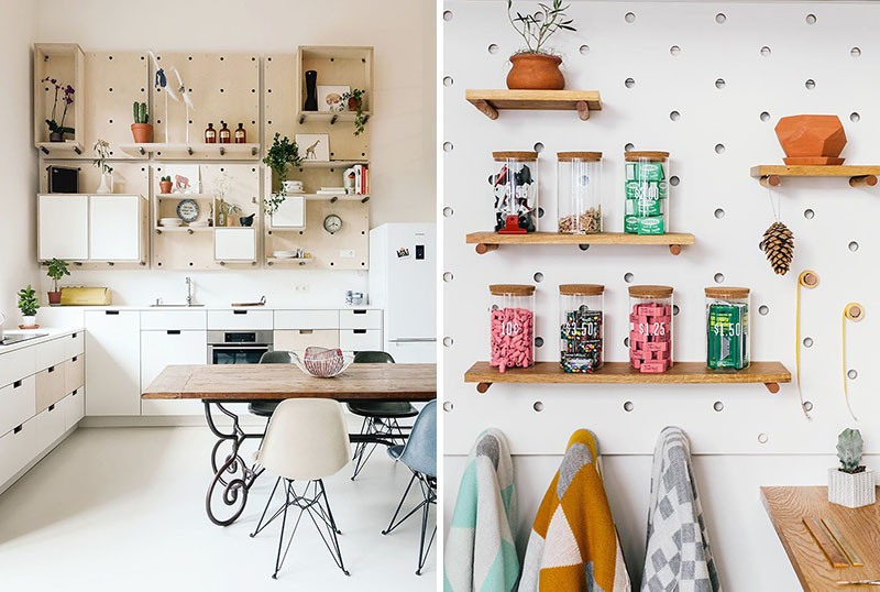 kitchen pegboard ninja mega recipes 9 ideas for using and dowels to create open shelves