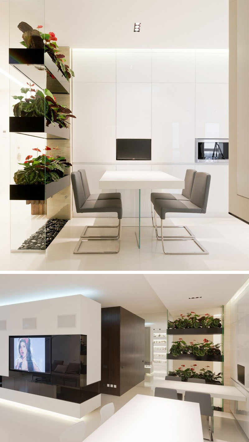 divider living room dining large chairs for 15 creative ideas dividers contemporist this permanent adds some greenery to