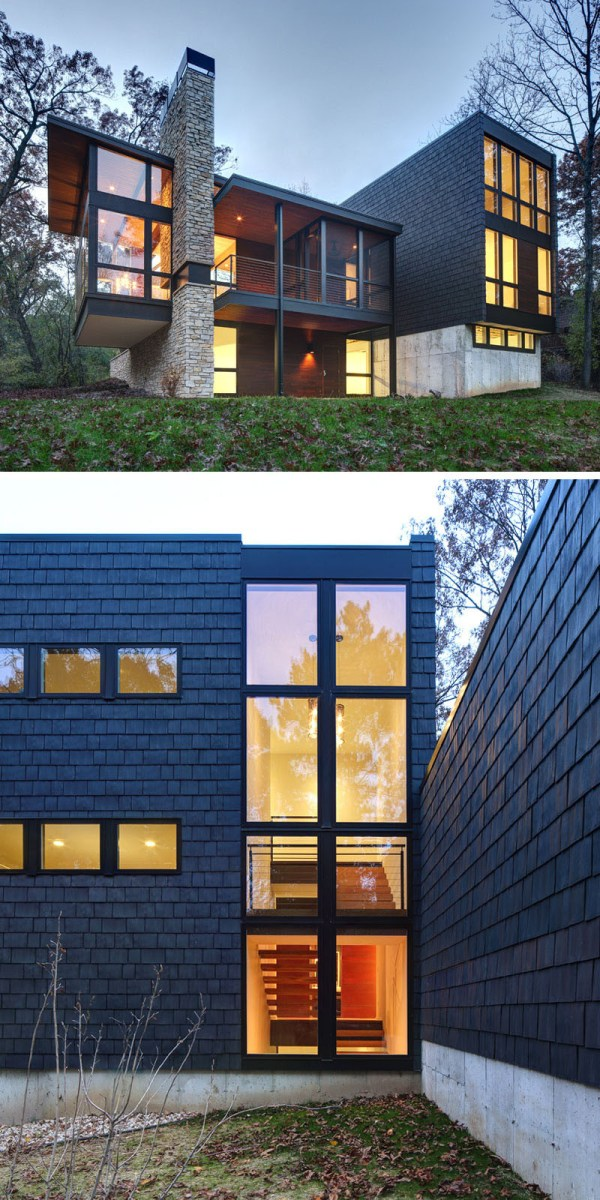 Examples Of Modern Houses With Wooden Shingles Contemporist
