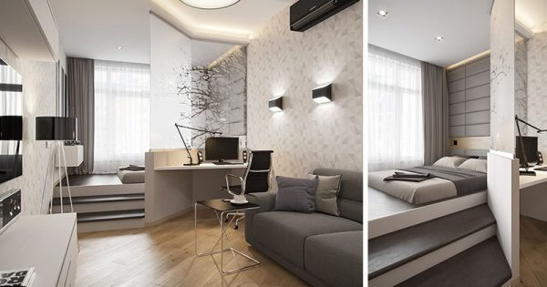 small apartment bedroom idea Small Apartment Design Idea - Separate The Bedroom By