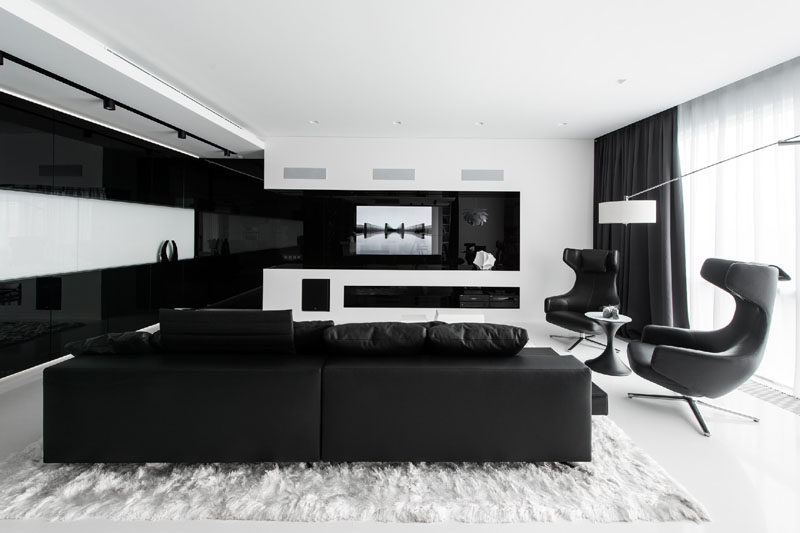 living room pictures black and white corner decorations this apartment has an almost entirely interior in the of themed television is built