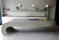 This Concrete Kitchen Island Ignores Gravity   CONTEMPORIST