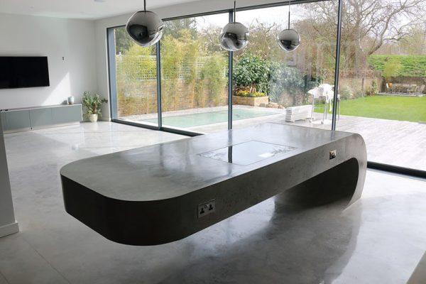 concrete kitchen island This Concrete Kitchen Island Ignores Gravity | CONTEMPORIST