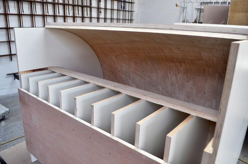 This Concrete Kitchen Island Ignores Gravity