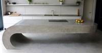 This Concrete Kitchen Island Ignores Gravity | CONTEMPORIST