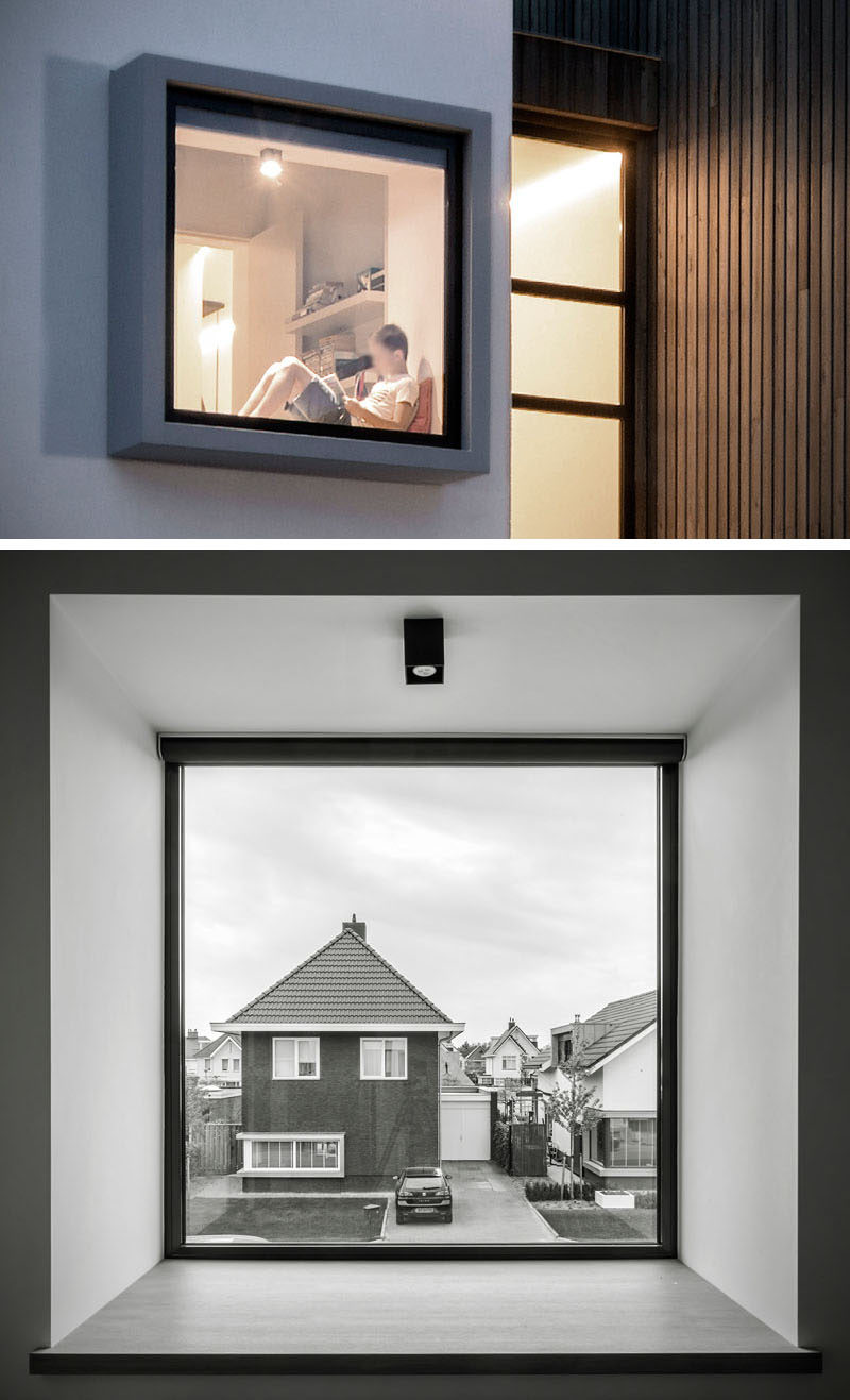 This Modern House Has A Window Seat With A View Of The