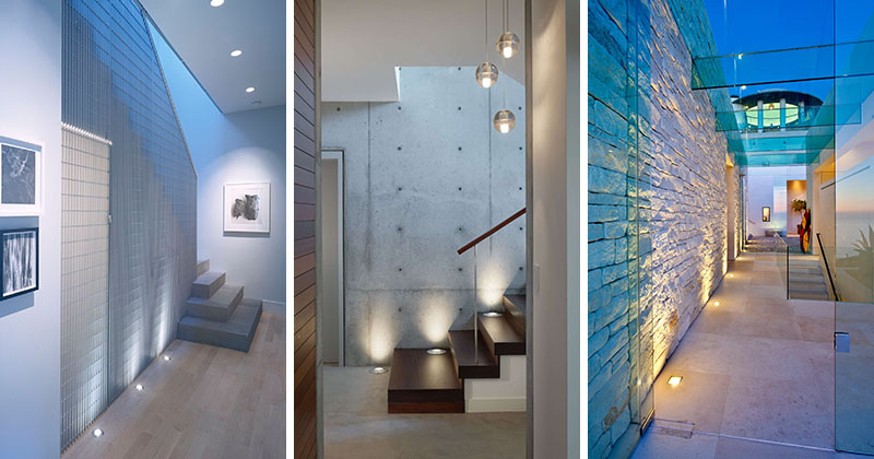 7 Interiors That Use Dramatic Uplighting To Brighten A