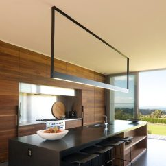 Kitchen Island Light Hardware On Cabinets Lighting Idea Use One Long Instead Of Multiple Pendant Lights