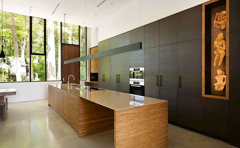 long kitchen light stainless steel cabinet island lighting idea use one instead of multiple pendant lights