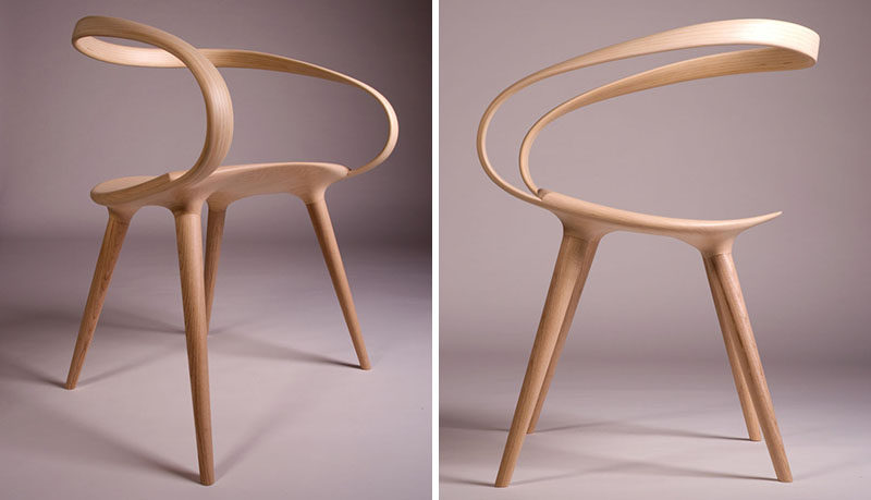 The Velo Chair Uses A Single Piece Of Bent Wood As The