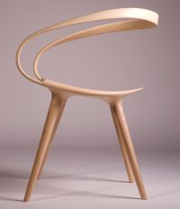 The Velo Chair Uses A Single Piece Of Bent Wood As The ...