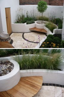 Excellent Examples Of Built-in Concrete Planters