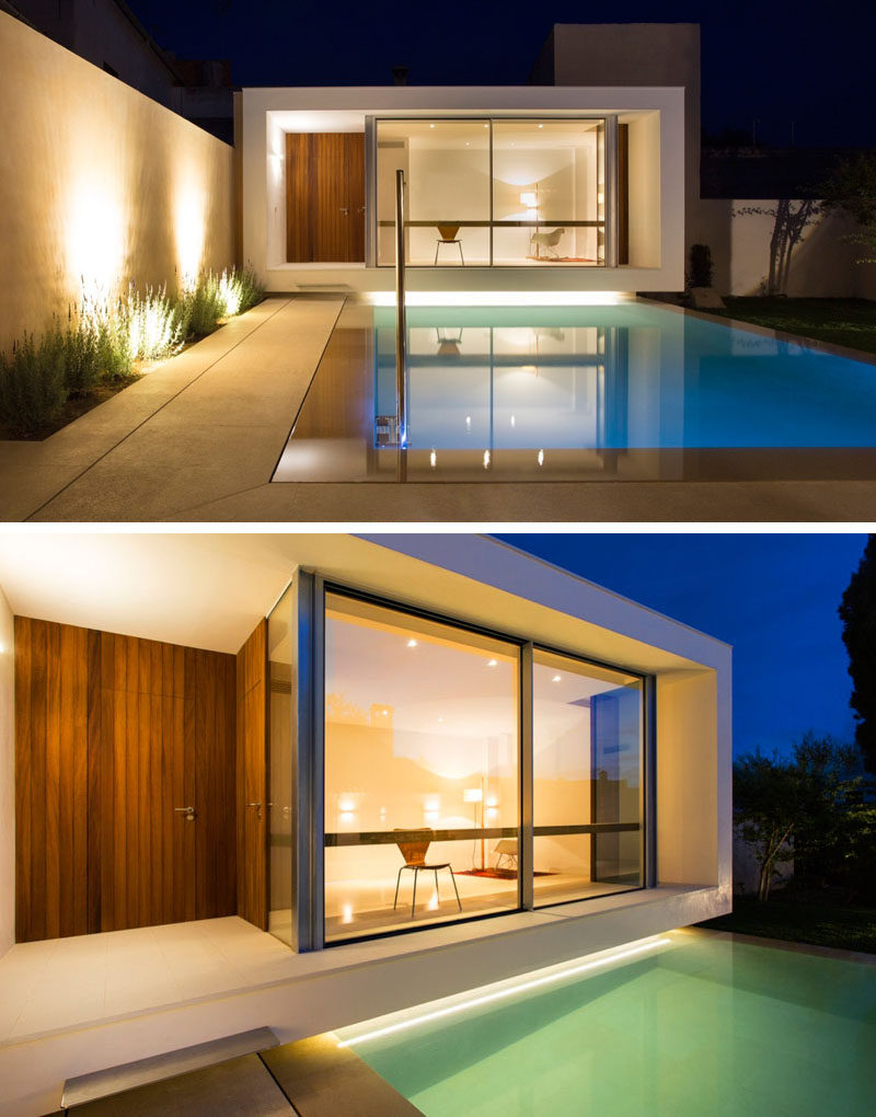 A home office overlooking a swimming pool was designed for this house Spain  CONTEMPORIST