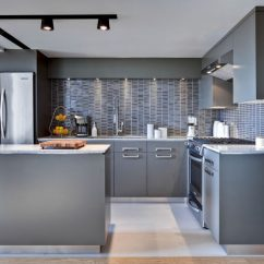 Gray Kitchen Cabinets New Gadgets 12 Examples Of Sophisticated Contemporist The Way Lights Are Positioned In