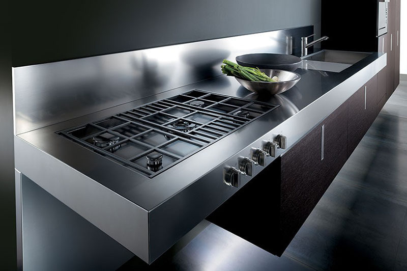 Kitchen Design Idea  Integrated Cooktop Counter