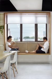 Modern Window Seat Idea - Add a suspended wood surround to ...