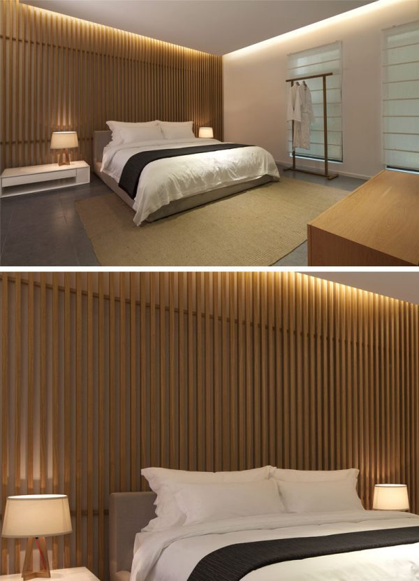 Wood Slat Feature Wall Bedroom Ideas