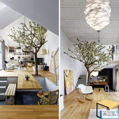 Living Room Interior Design Ideas With Dining Table Dark Blue Sofa In The Floor Of This Becomes Contemporist Extends And A Cantilevered