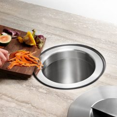 Kitchen Trash Exhaust Fan For Ceiling Design Idea Include A Chute In Your Counter