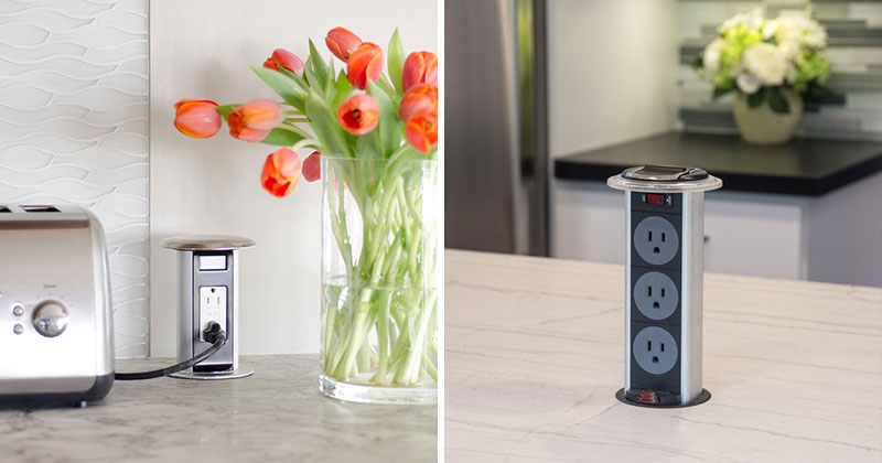 Kitchen Design Idea Install A Pop Up Outlet Directly