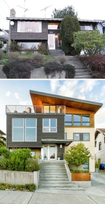 Split-Level Exterior Renovations Before and After