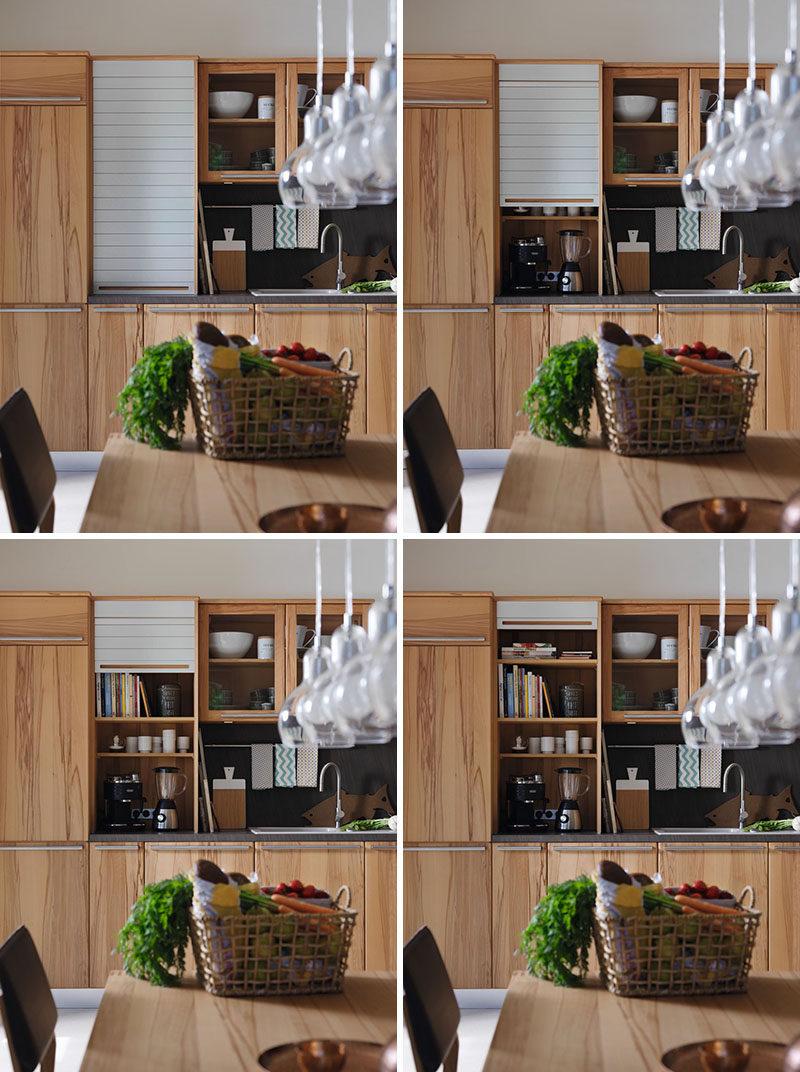 Kitchen Design Idea Store Your Kitchen Appliances In An Appliance Garage