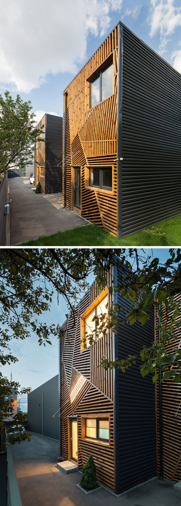 Townhouses Feature Creative And Artistic Wood