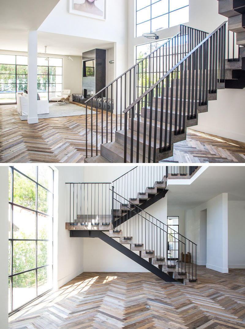 16 Inspirational Examples Of Herringbone Floors  CONTEMPORIST