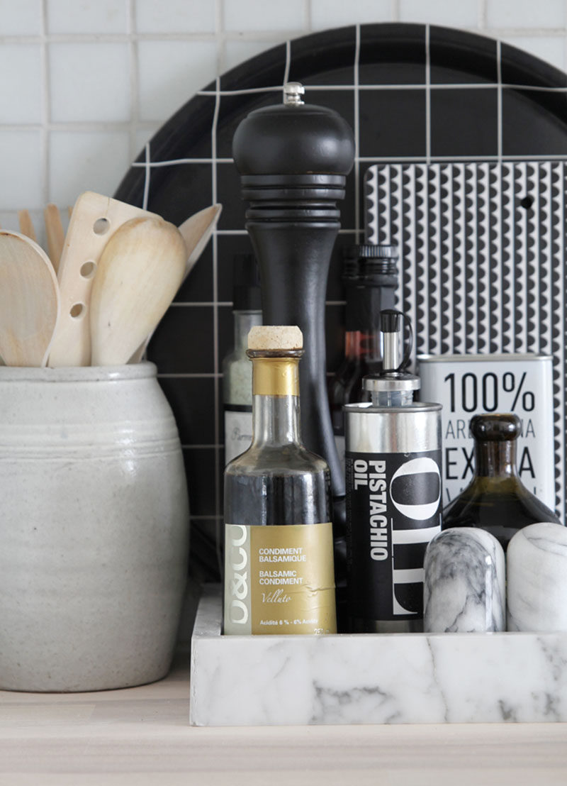 kitchen tray sink drains home decor ideas 6 ways to use serving trays in your all of the essentials like oil vinegar and salt n pepper are stored on this