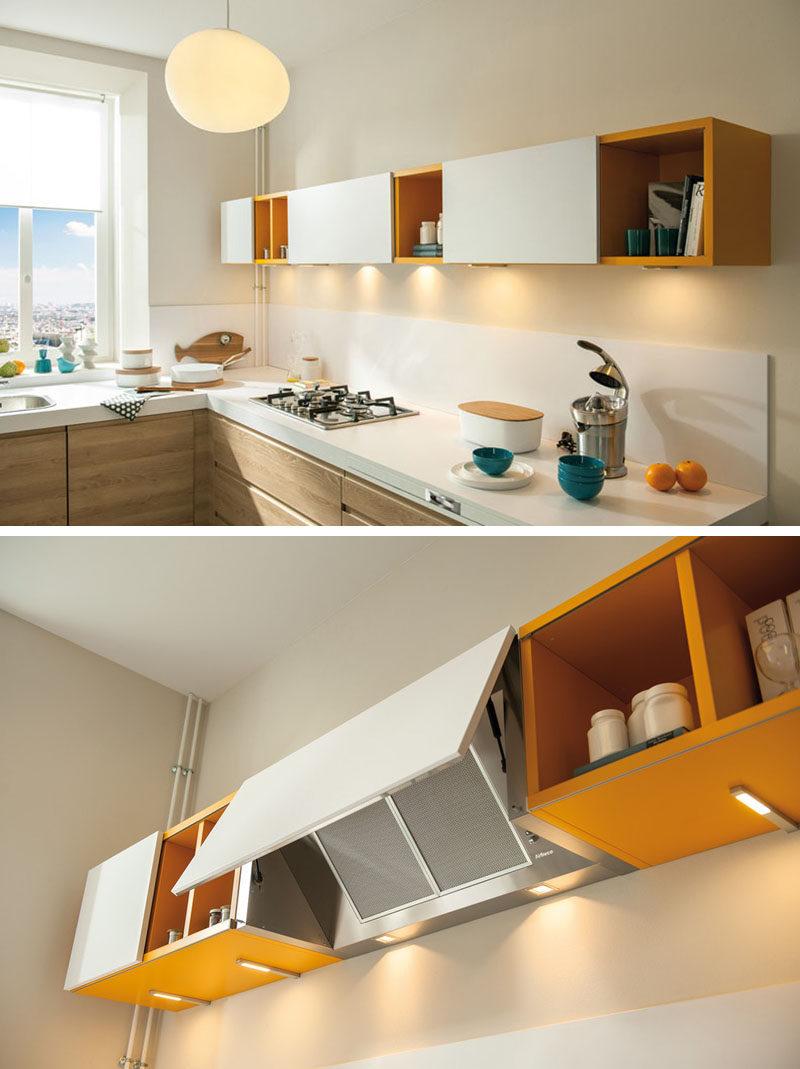 kitchen hood design cabinet lighting idea hide the range contemporist door covering this