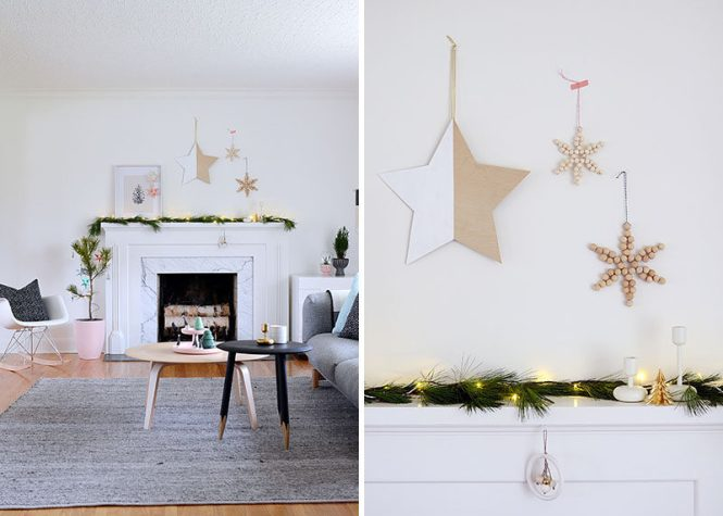 30 Modern Christmas Decor Ideas For Your Home Fake Tealights Placed Under These Perforated