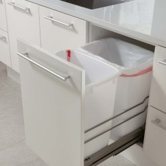 Trash Cans Kitchen Wall Coverings Design Idea Hide Pull Out Bins In Your Cabinetry These
