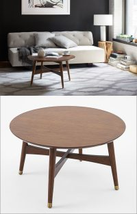 Furniture Ideas - Round Coffee Tables In Glass, Wood ...