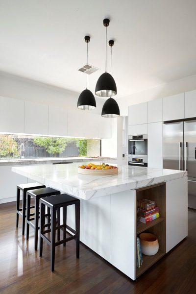 modern white kitchen cabinets Kitchen Design Idea - White, Modern and Minimalist