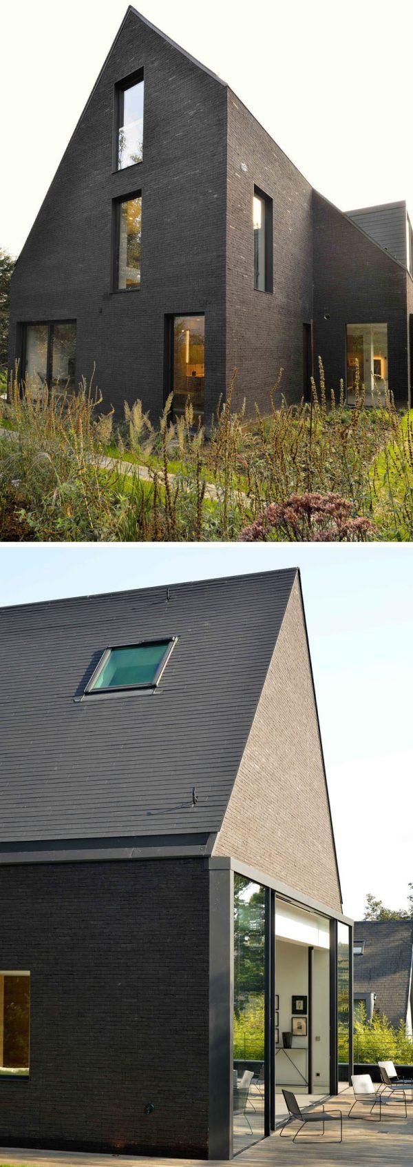 Contemporary Black Brick House Renovated