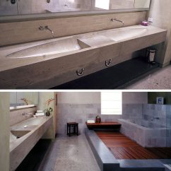 Narrow Kitchen Sink Commercial Faucets 11 Creative Concrete Countertop Designs To Inspire You ...