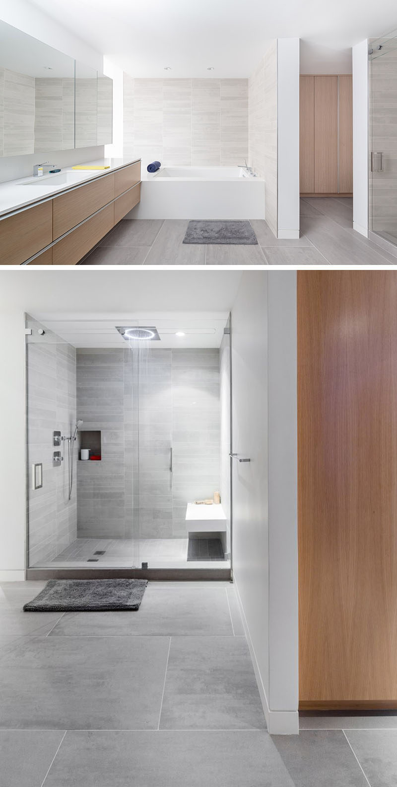 Bathroom Tile Idea  Use Large Tiles On The Floor And