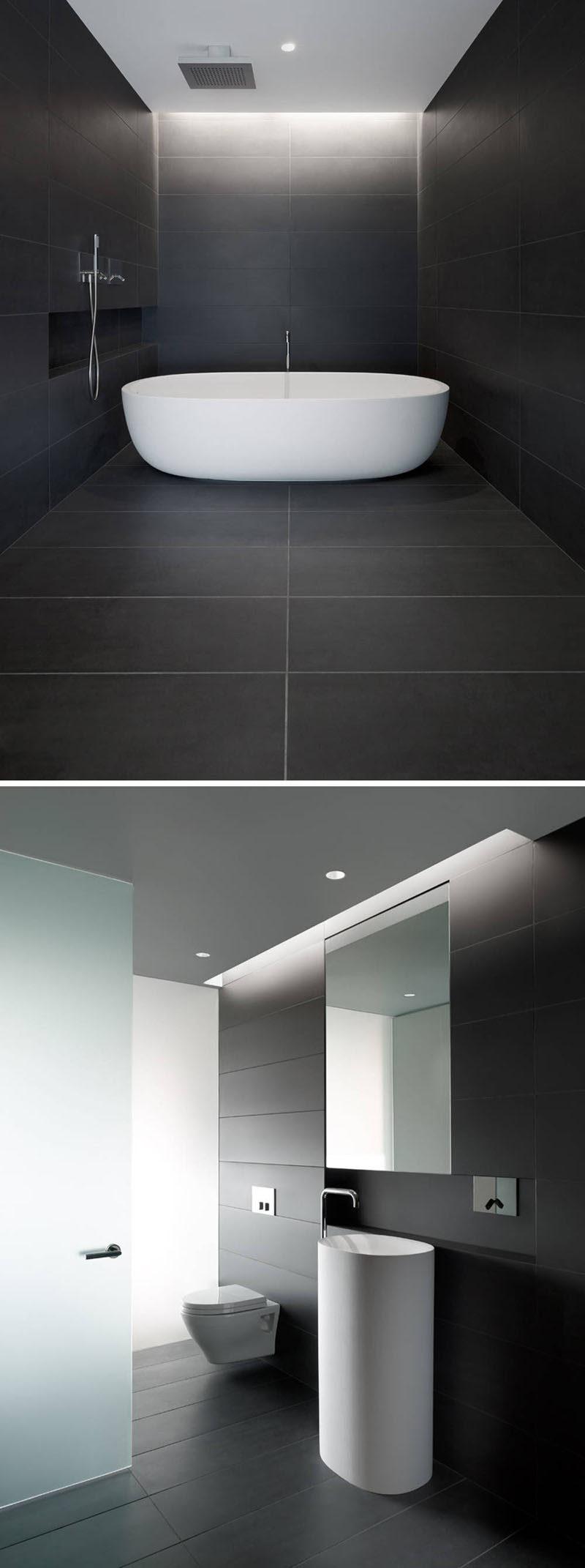 bathroom tile idea use large tiles on