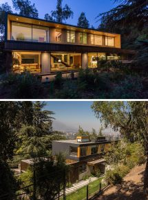 Modern Houses In Forest