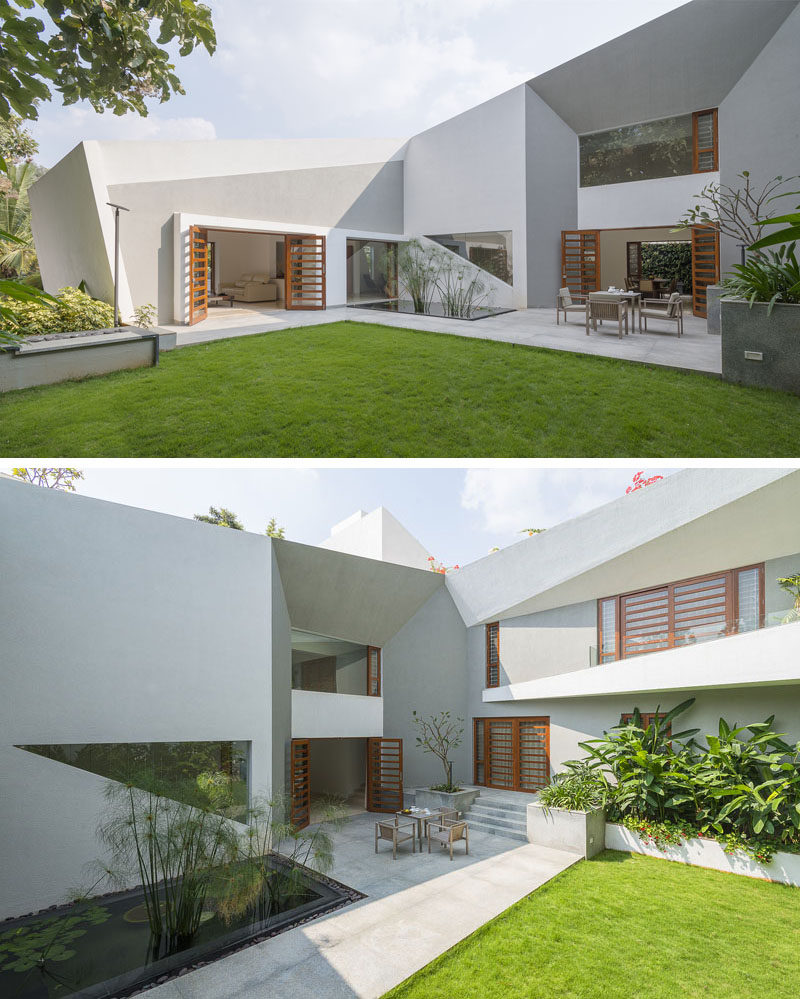 The Design Of This Modern House Features A Very Angular Exterior  CONTEMPORIST