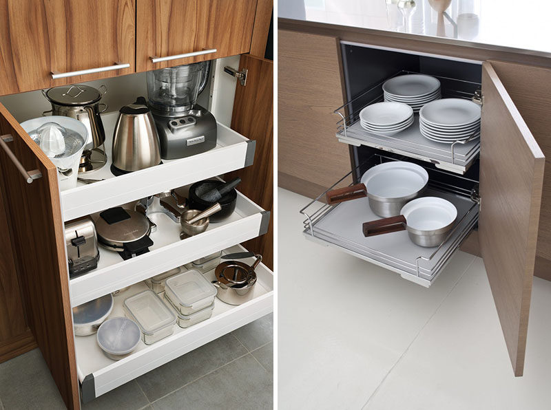 kitchen pull out shelves ss equipments design ideas drawers in cabinets