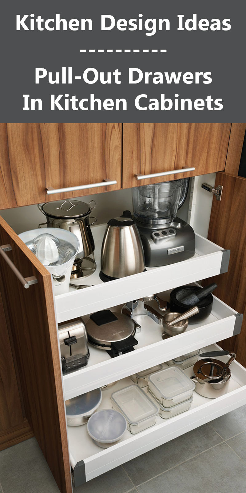 Kitchen Design Ideas  PullOut Drawers In Kitchen Cabinets