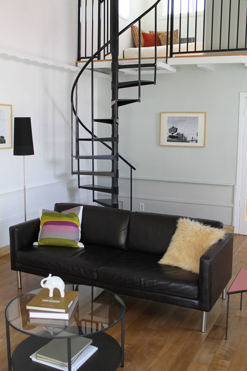 13 Stair Design Ideas For Small Spaces   Space Saving Staircases For Small Homes   Design   Attic Ladder   Wood   Ladder   Loft Stairs